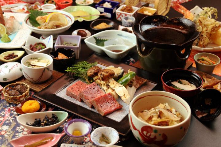 松茸×米沢牛フルコース